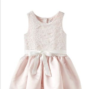 Us Angels Size 5  Girls' Lace Overlay Dress